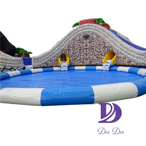 Kong Kim Theme Inflatable water Park with pool for sale