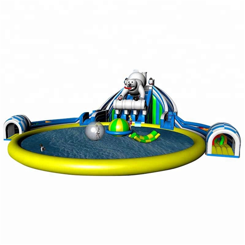 Ice world Theme pool inflatable water Park for sale