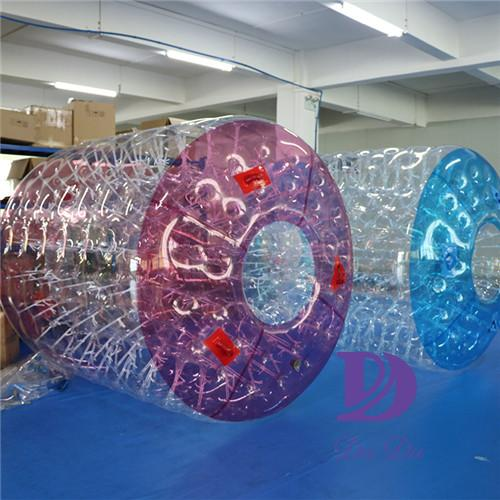 TPU material water park use aqua roller for sale