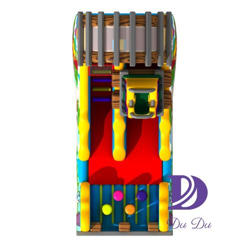 New cartoon design colorful bouncy slide for sale