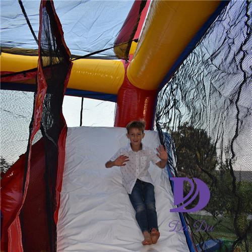 Normal type inflatable jumping castle with slide for sale