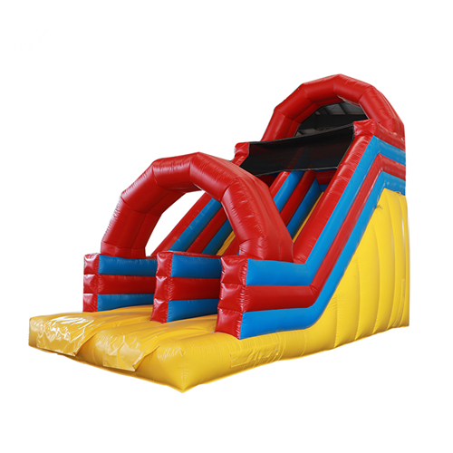 Normal type colorful inflatable dry slide for sale