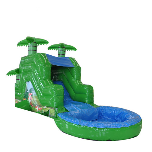 Fox theme inflatable backyard water slide for sale
