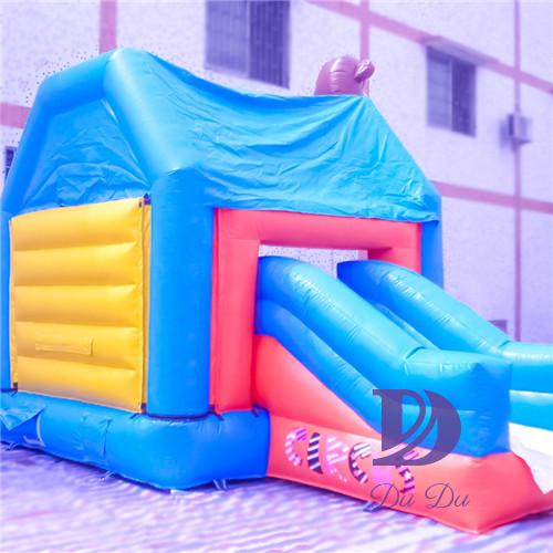Circus theme inflatable jumpers with slide for sale
