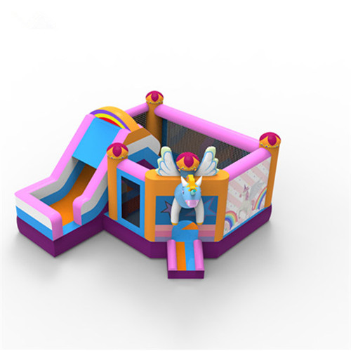 New design unicorn combo inflatable bounce house for sale