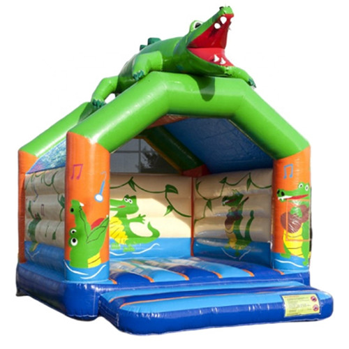 crocodile design durable moon bounce for sale