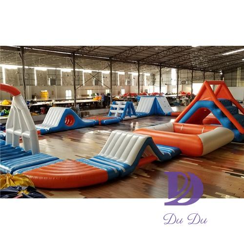 Customized new type big inflatable water park for sale