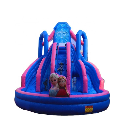 Frozen theme design best inflatable water slide for sale