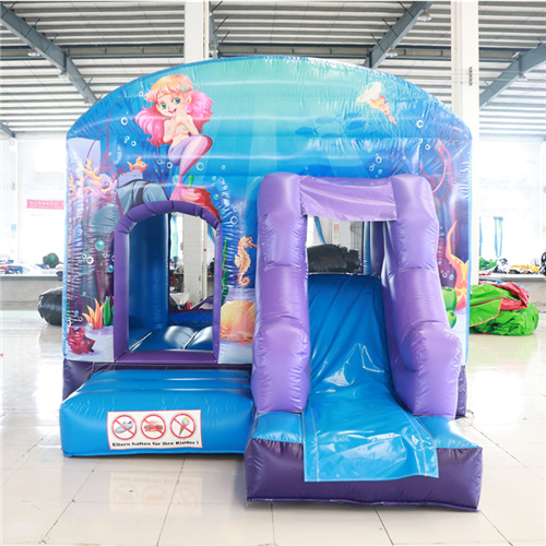 New mermaid design bounce house slide combo for sale